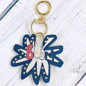 "Burberry Leather ""Boom"" Firework Lock bag Charm"